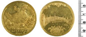 Above Image: Nicholas Briot, Gold medal of London, 1633 (detail). © 硬币 and Medals, the 英国博物馆, London.