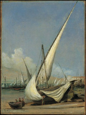 Thomas Fearnley, Fishing Boats, Castellammare, 1833 (Private Collection)