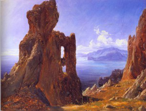 Thomas Fearnley, The Natural Archway, Capri, 1833. Private Collection.