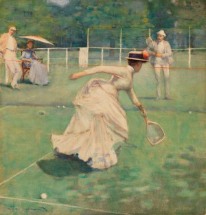 Sir John Lavery - A Rally (1885) Glasgow Life/Glasgow Museums; By courtesy of Felix Rosenstiel's Widow and Son Ltd., London on behalf of the Estate of Sir John Lavery