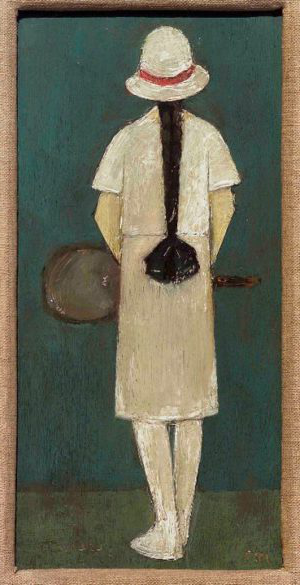 LS Lowry - The Tennis Player (1927) Private Collection, photo Colin Beer, J. L. Allwork Ltd, The Estate of L. S.Lowry, 2011