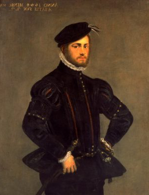 Jacopo Robusti Tintoretto (1518-94), Portrait of a Young Man, 1554. Oil on canvas, 121 x93.3cm, acq. December 1937