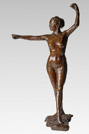 'Dancer Ready to Dance, Right Foot Forward' by Degas