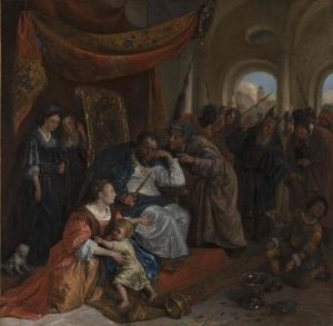 Jan Steen, 'Moses and Pharaoh's Crown', c.1670 © Mauritshuis, The Hague