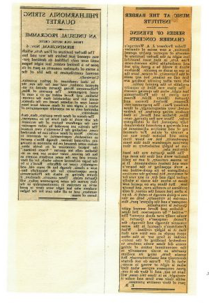 Birmingham Post, reviews of TH.e first professional Barber evening concert, 5 November 1945